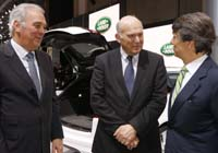 Left to right: Jaguar Land Rover (JLR) executive director Mike Wright, Vince Cable and JLR CEO Dr Ralf Speth pictured when the business secretary paid a visit to the Geneva Motor Show in March.