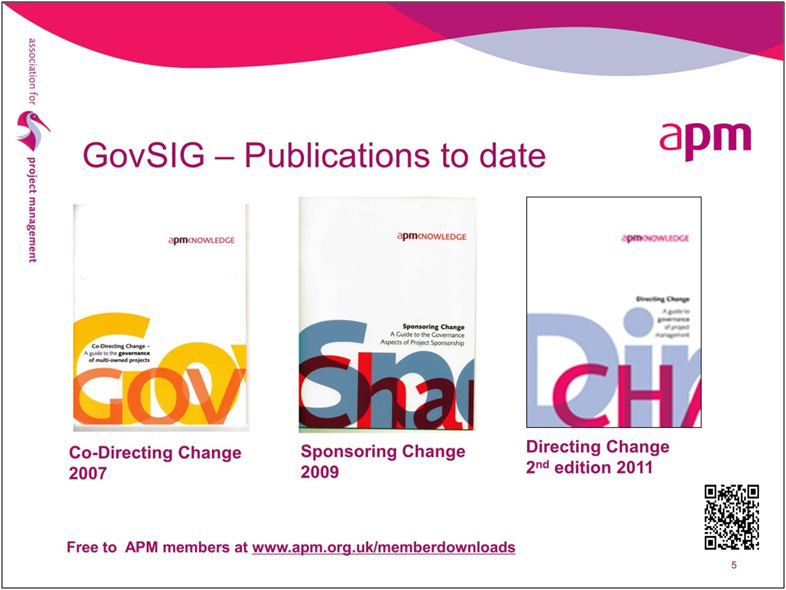 Governance publications